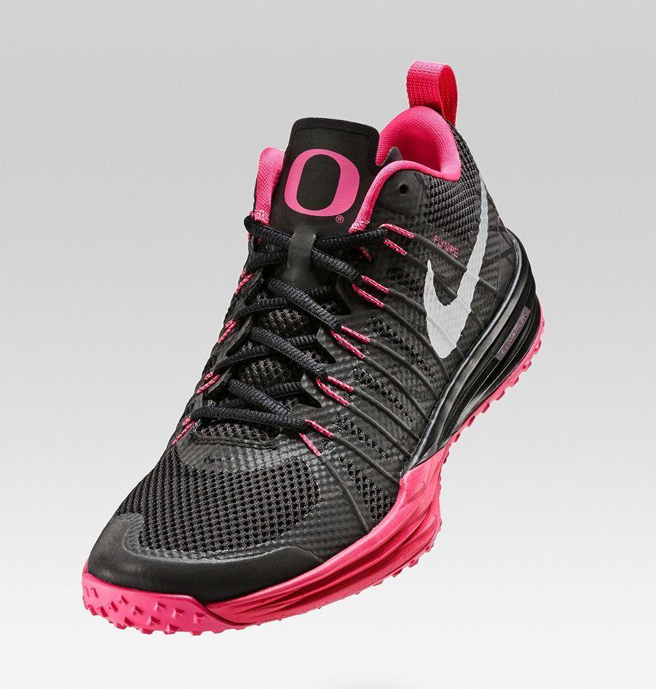 Nike Lunar TR1 NRG (Oregon Ducks) Pink/Black Breast Cancer Size 11.5 Shoes