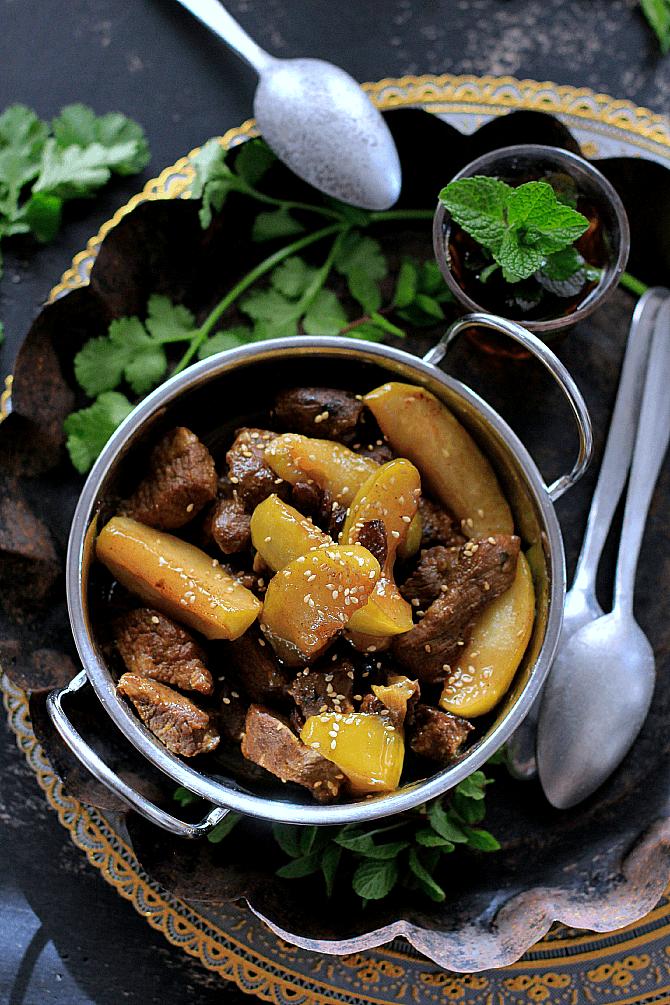 La cocina de babel taj n de ternera manzana y pasas - Cordero estilo marroqui ...