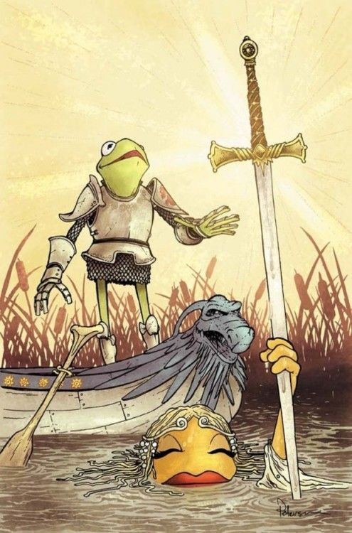 King Kermit and the Muppet of the lake.