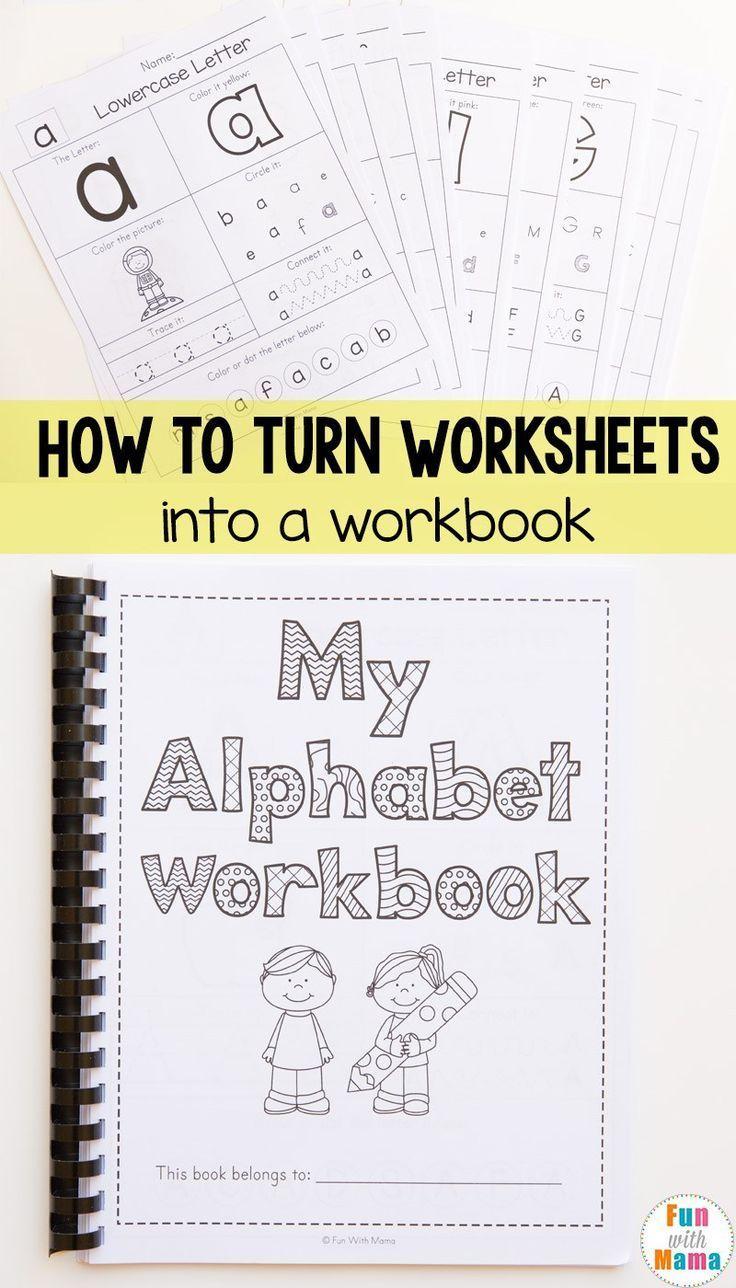 Homeschool Organization How to Bind A Book | Preschool workbooks ...