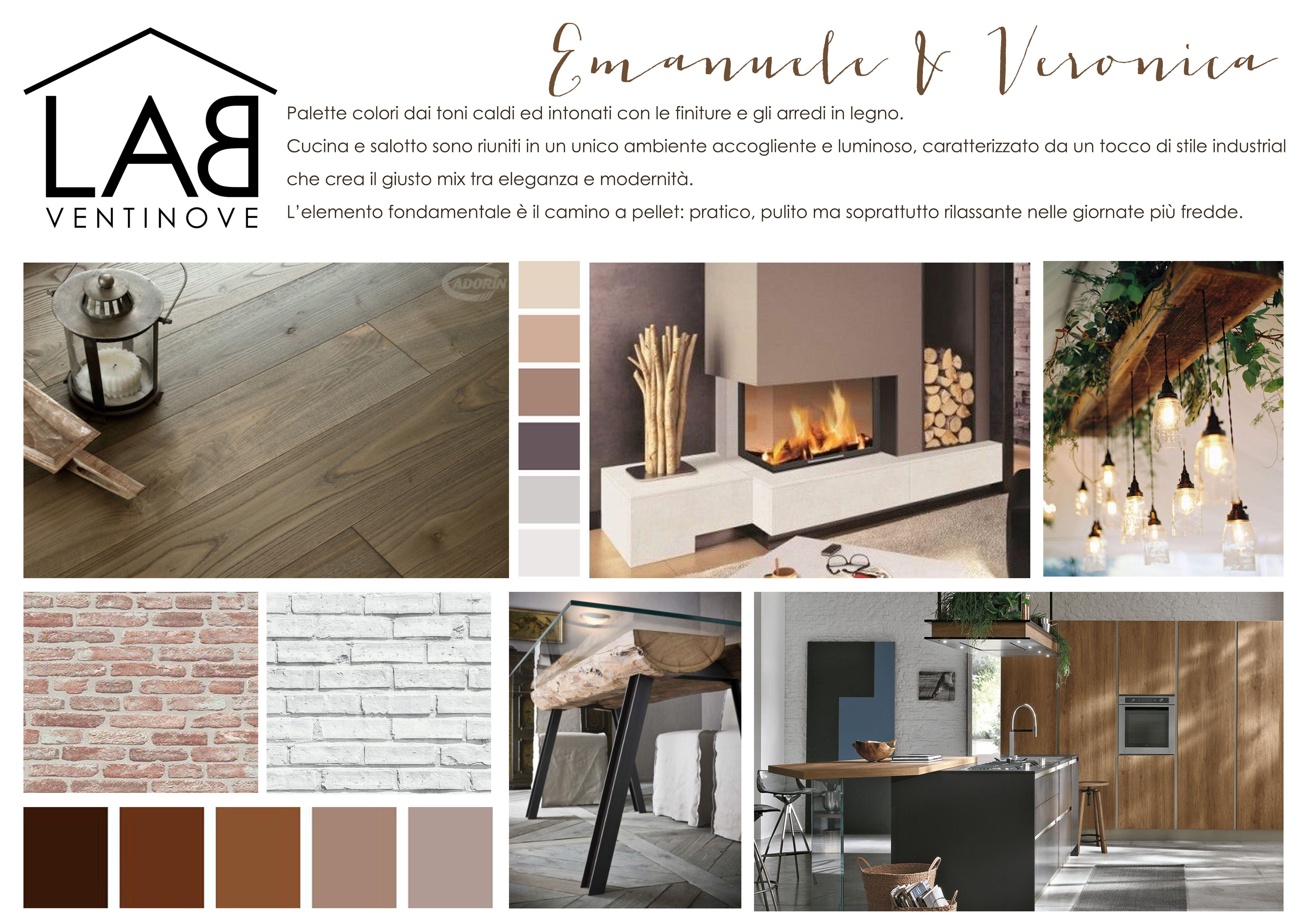 Moodboard Emanuele & Veronica. Studio d\'interni per cucina e sala da ...