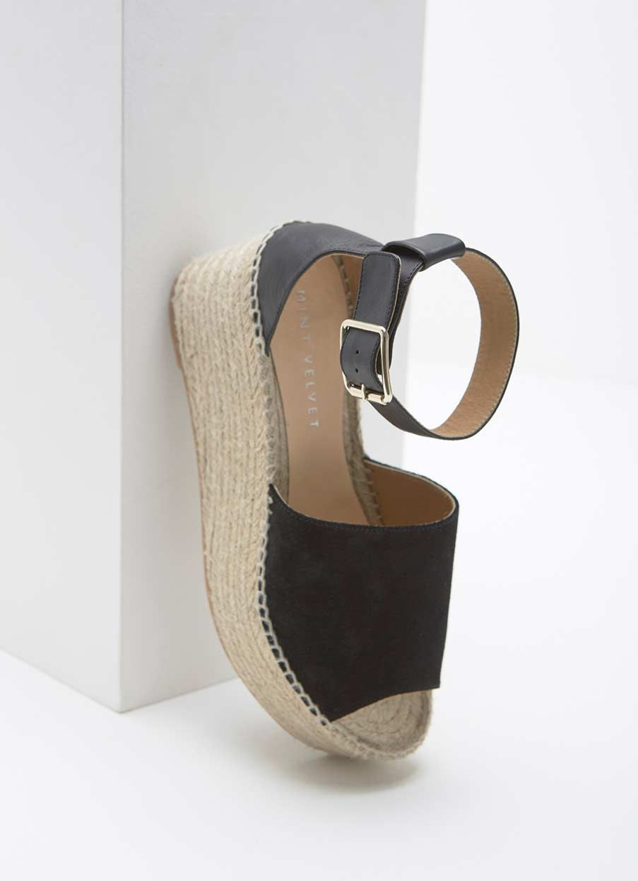 deb5891ce61 Aria Black Chunky Espadrille | NEW ARRIVALS | Espadrilles, Wedges ...