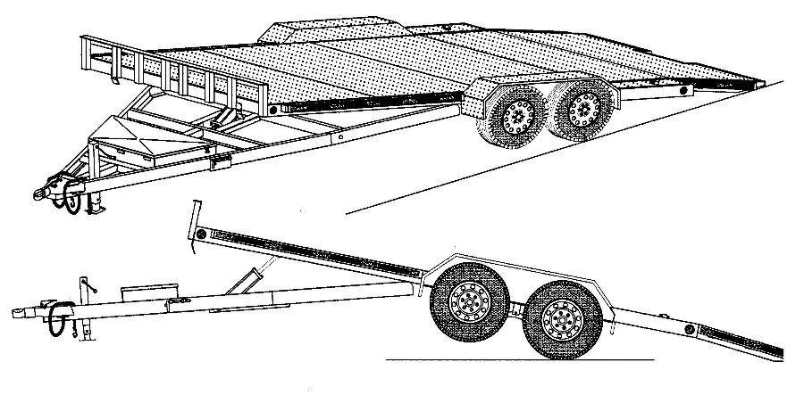 18ht  82 u0026quot  x 19 u0026 39  hydraulic tilt car hauler trailer plans