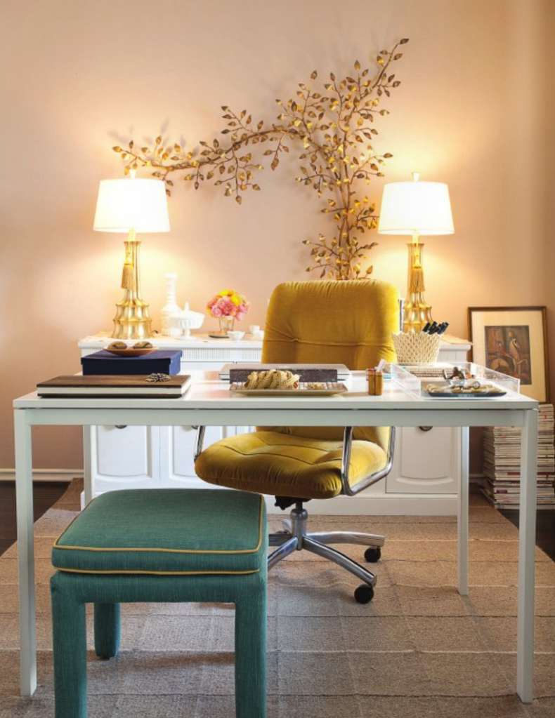 Office And Worke Designs Small Minimalist Desk Home Design Ideas Yellow Chair Green Bench Beautiful Men S