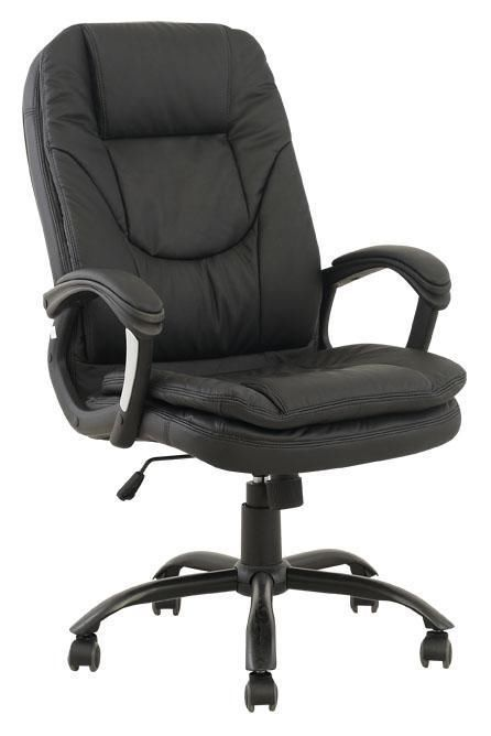 Computer Desk Office Chair Pu Black Leather 360 Degree
