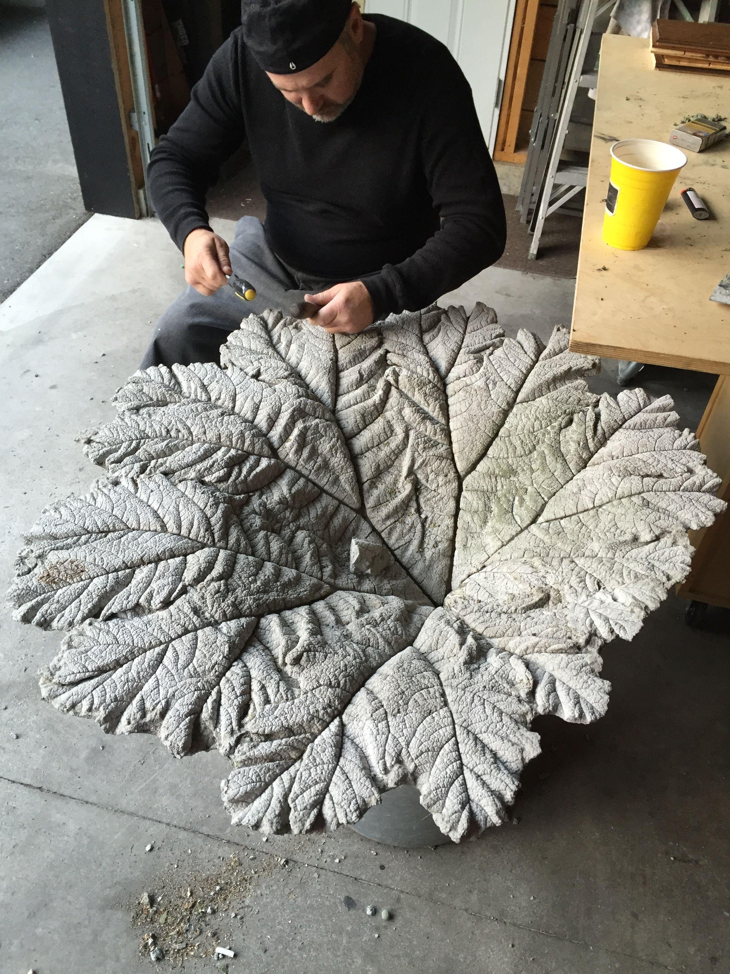Concrete Leave More Concrete Garden Cement Leaves Concrete Leaves
