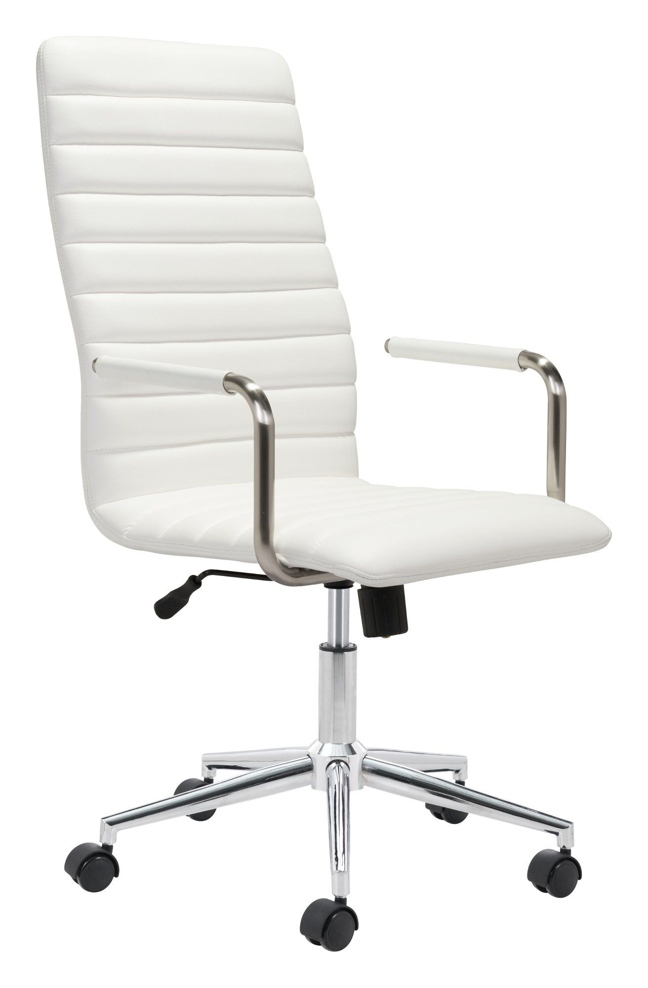 Miraculous High Back White Office Chair Pivot Products In 2019 Caraccident5 Cool Chair Designs And Ideas Caraccident5Info