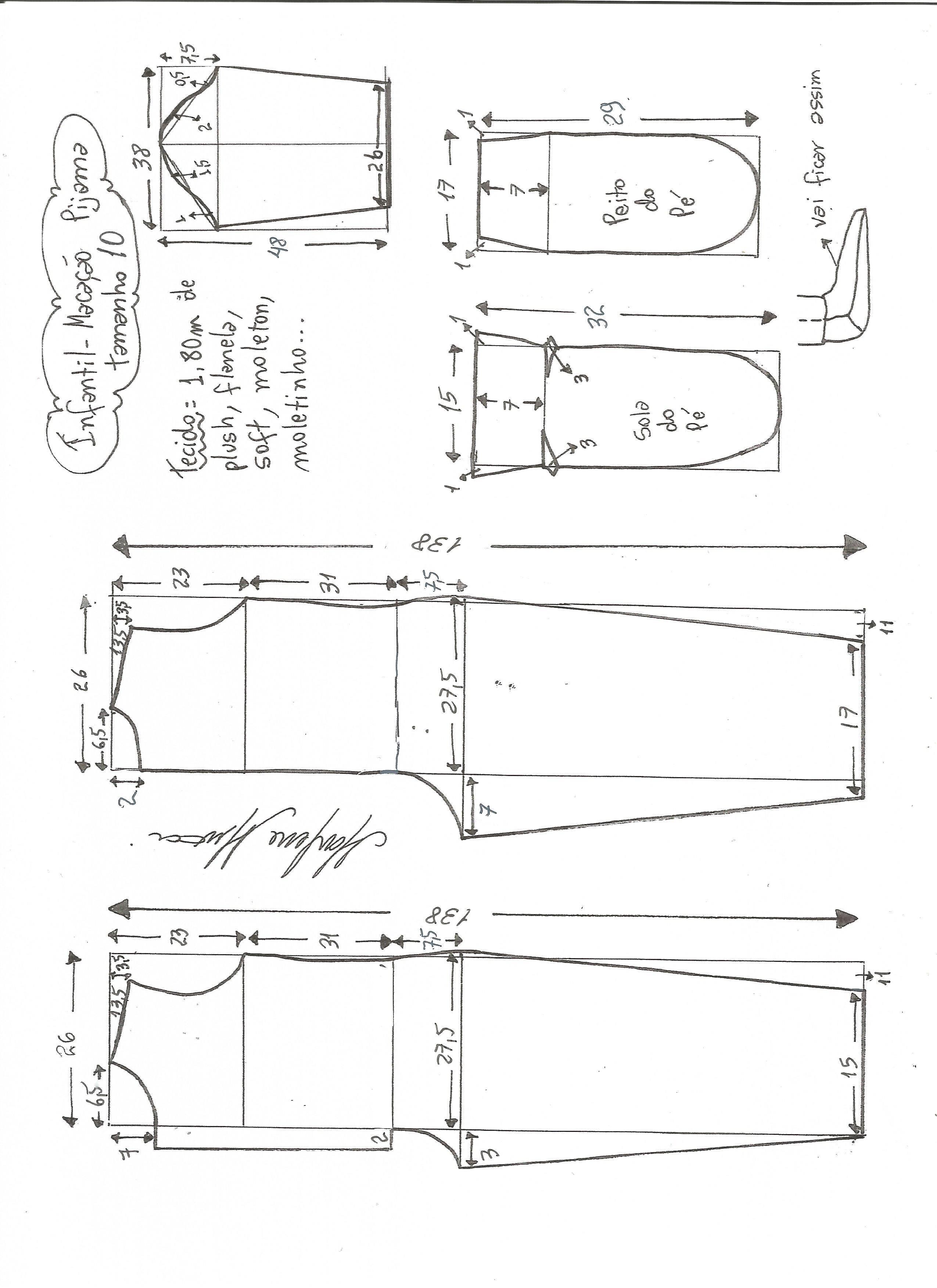 Patrón de pijama infantil | Diseño reparación ropa | Sewing, Sewing ...