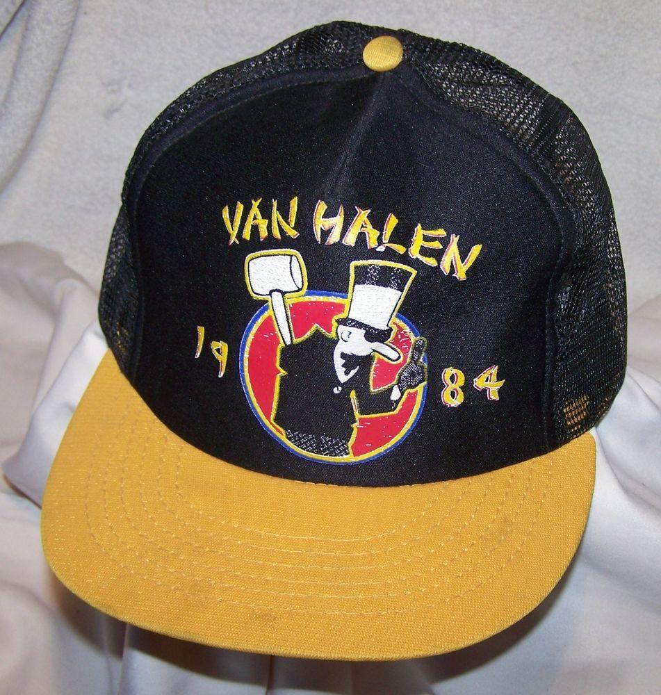 Vintage Van Halen 1984 Baseball Cap Hat Van Halen Vintage Vans Caps Hats