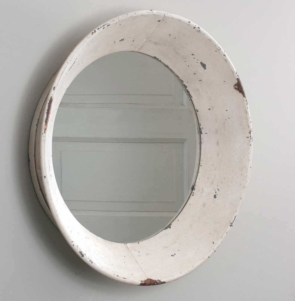 Round whitewashed wall mirror is part of Country Home Accessories Mirror - Give your home the gift of reflection with this Round Whitewashed Wall Mirror  Enlarge the appearance of your room all while adding some farmhouse charm  Use alone in a hallway, bathroom, or on a larger wall with a grouping  22  dia  x 5 D  Mirror is 16  diameter