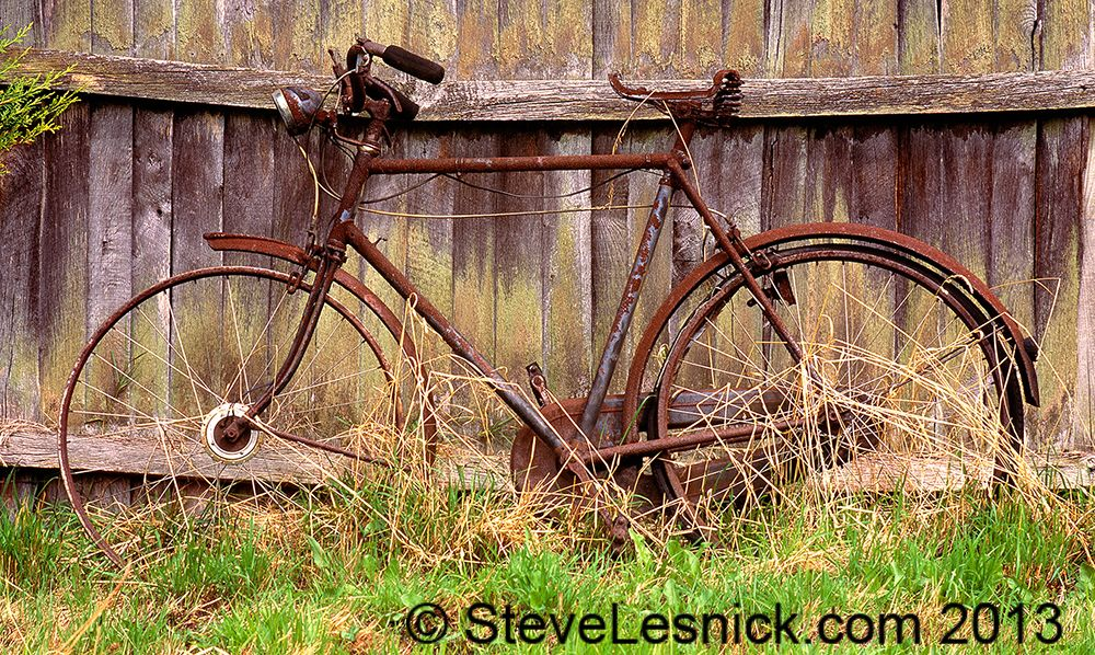 | Photography #bike #old #rusty #fence