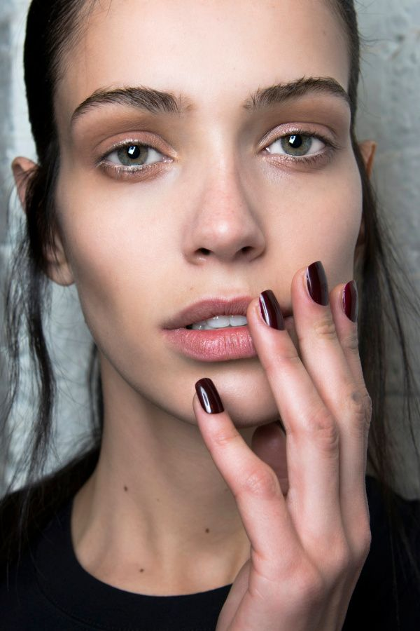 Deep maroon nails. Fall 2014 Nail Trends: Minimalistic Manicures   Beauty High