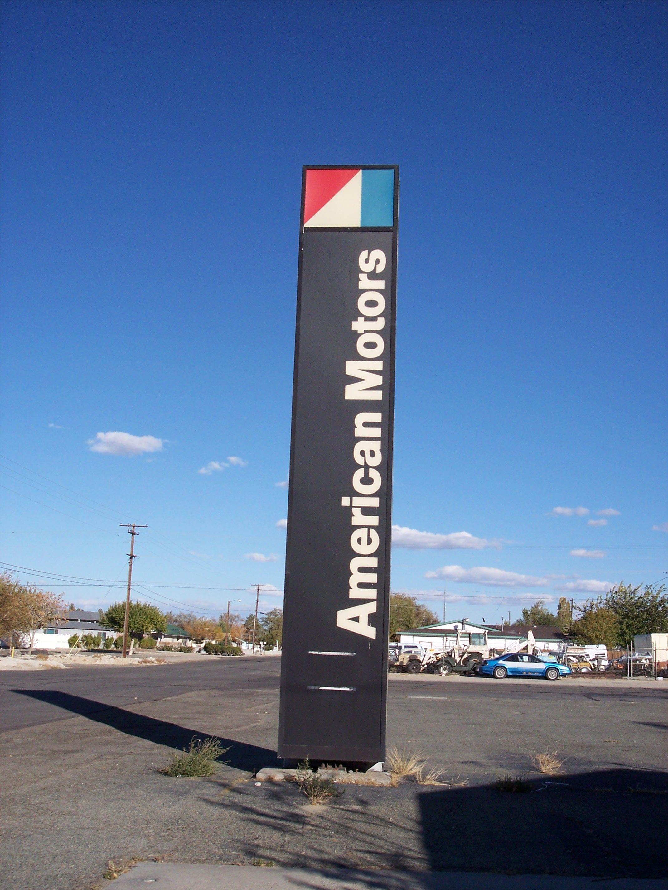 Amc Dealer Sign American Motors Car Dealership Hudson Hornet