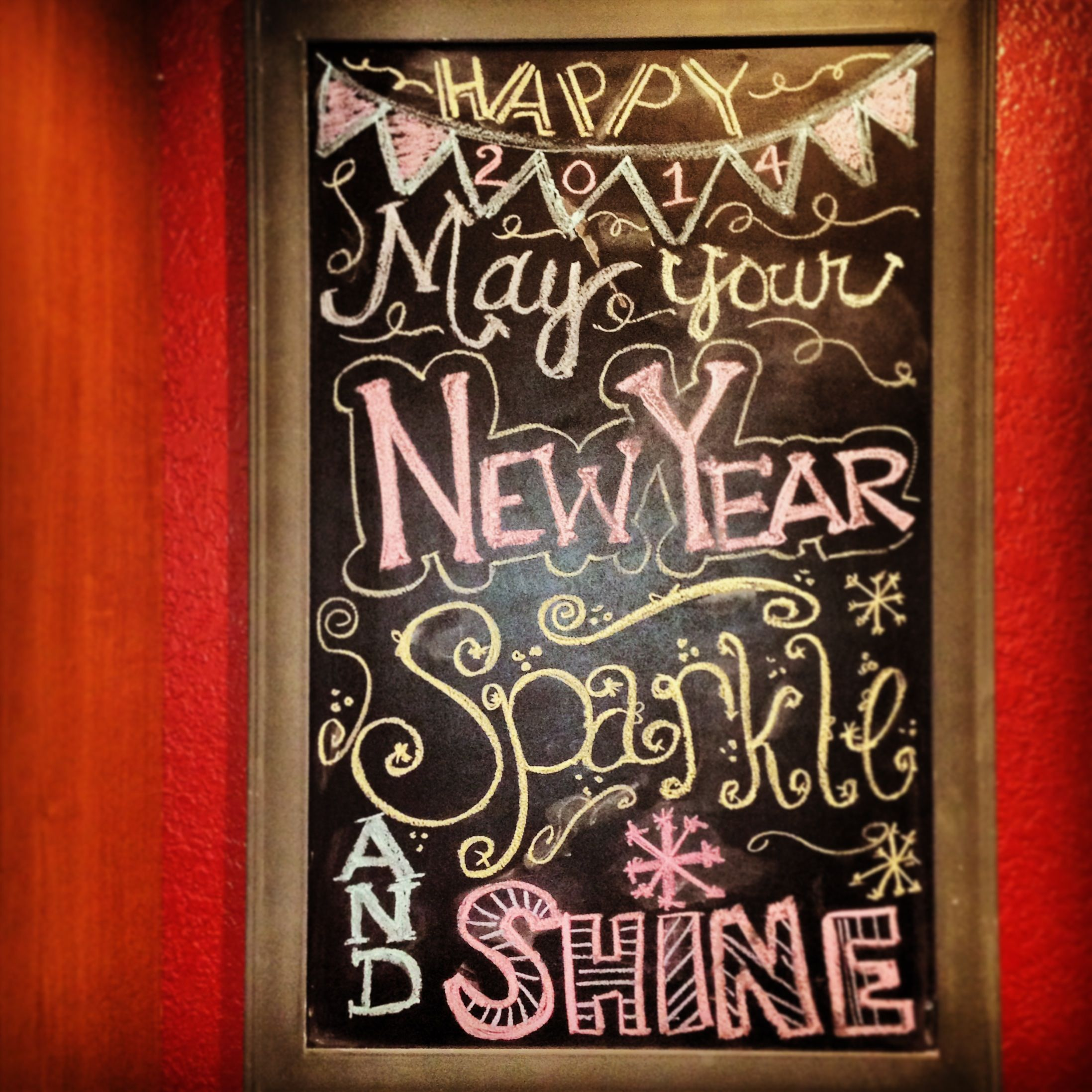 New Years Eve Chalkboard Idea May Your New Year Sparkle