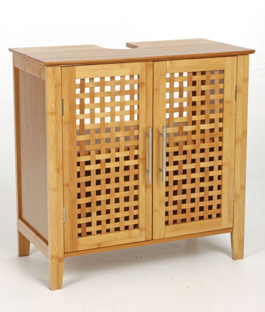meuble salle de bain bambou massif