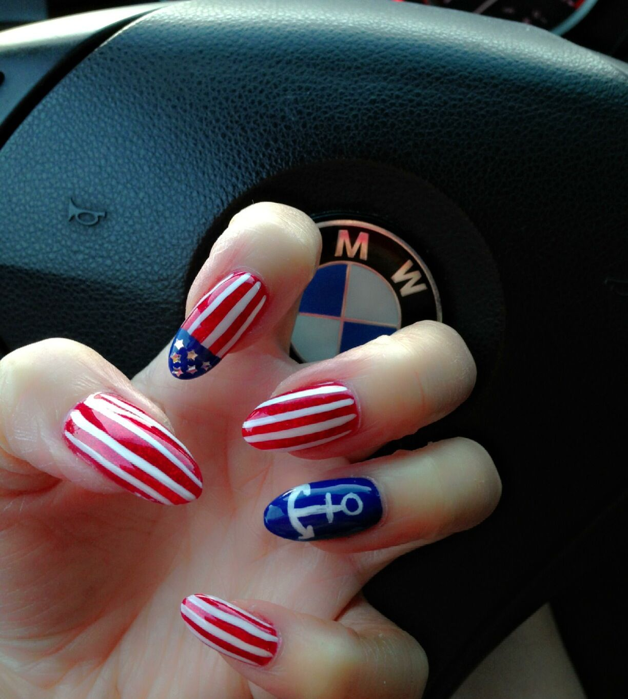 American flag nails design | Nails | Pinterest
