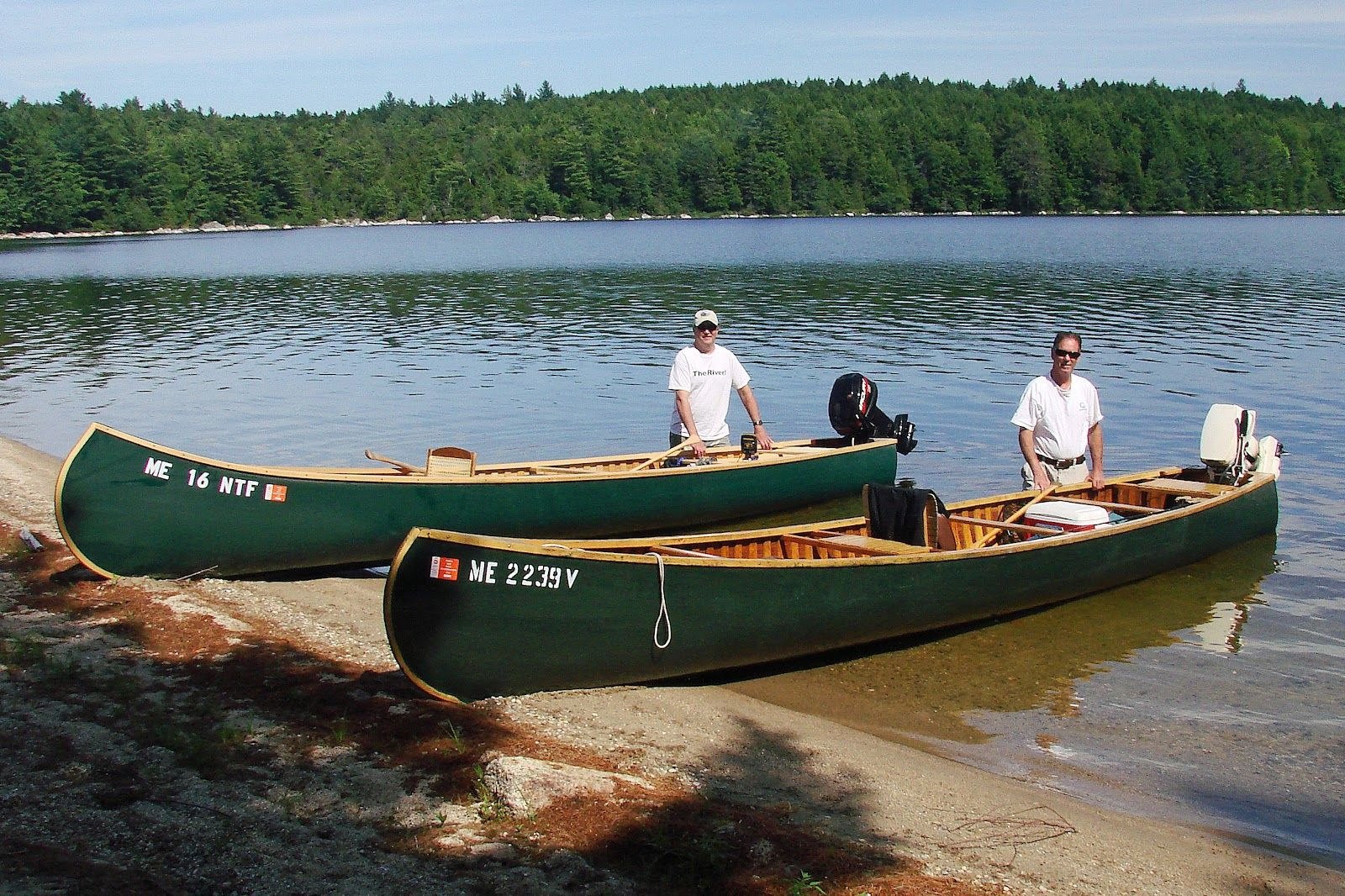 The maine outdoorsman the venerable grand lake canoe for Fishing kayaks for sale near me