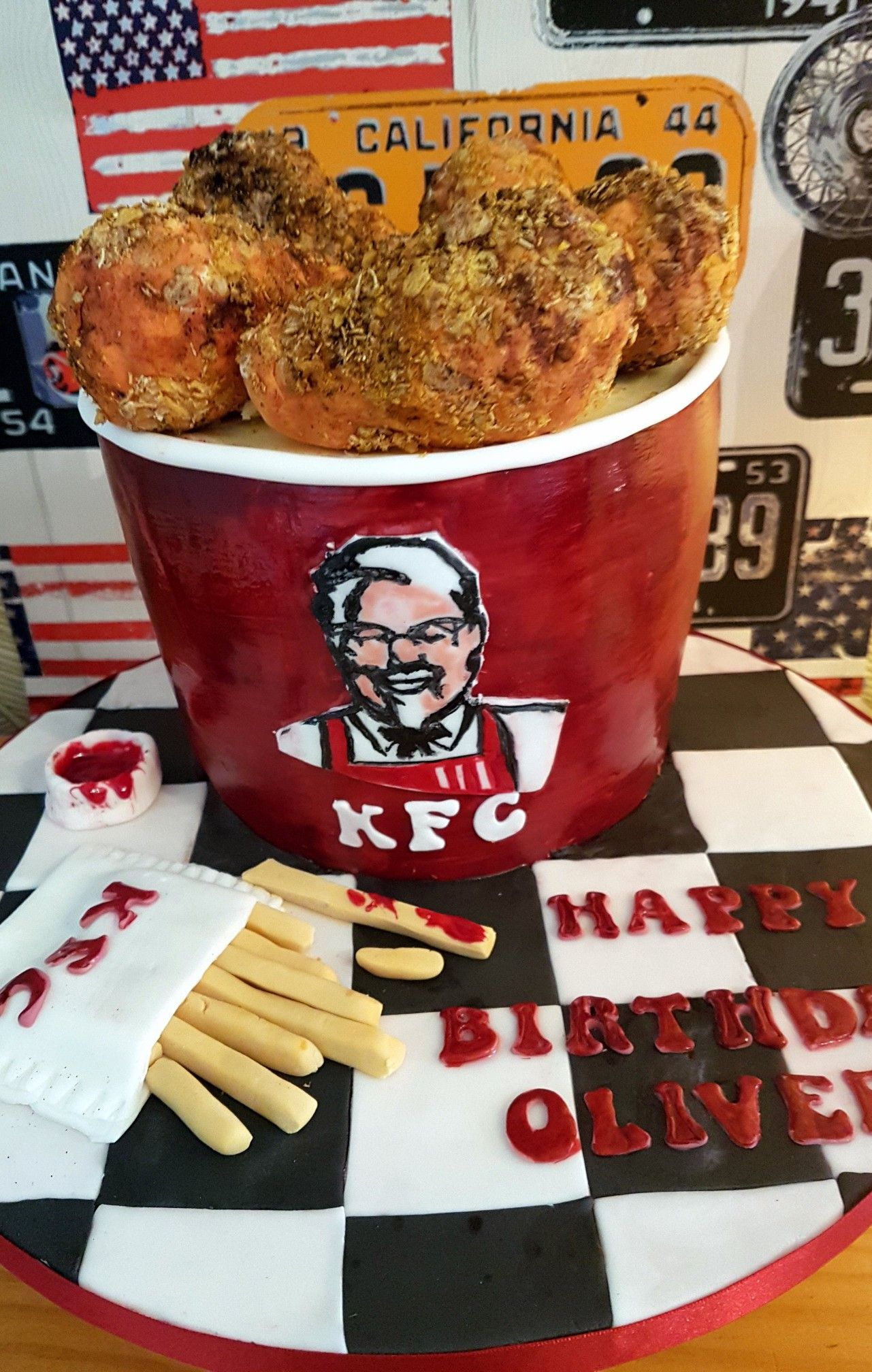 Kfc Bucket Of Chicken Cake One Of My Faves Grear For Adults Or Kids