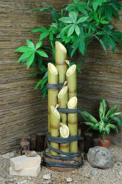 Artesanato Com Bambu Para Jardim Pesquisa Google Fuente De Bambú Plantas De Bambú Ideas De Bambú