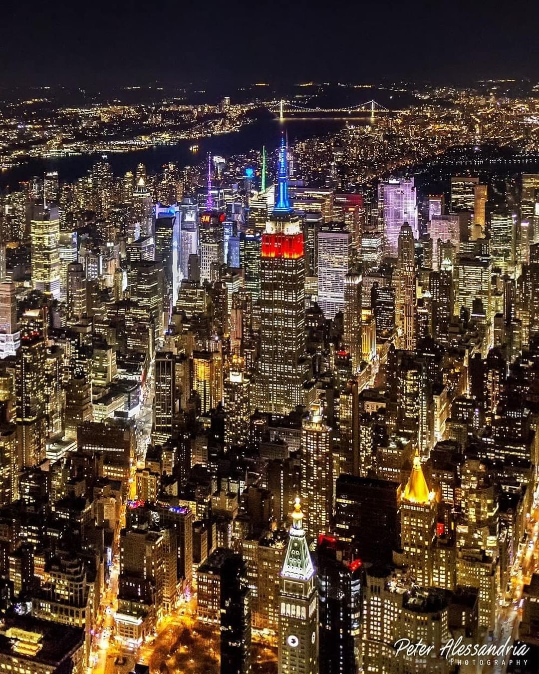 """nycgo on instagram """"the new york skyline at night 📷"""