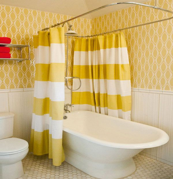 Shower Curtains Made From Burlap Silk And More Yellow Shower