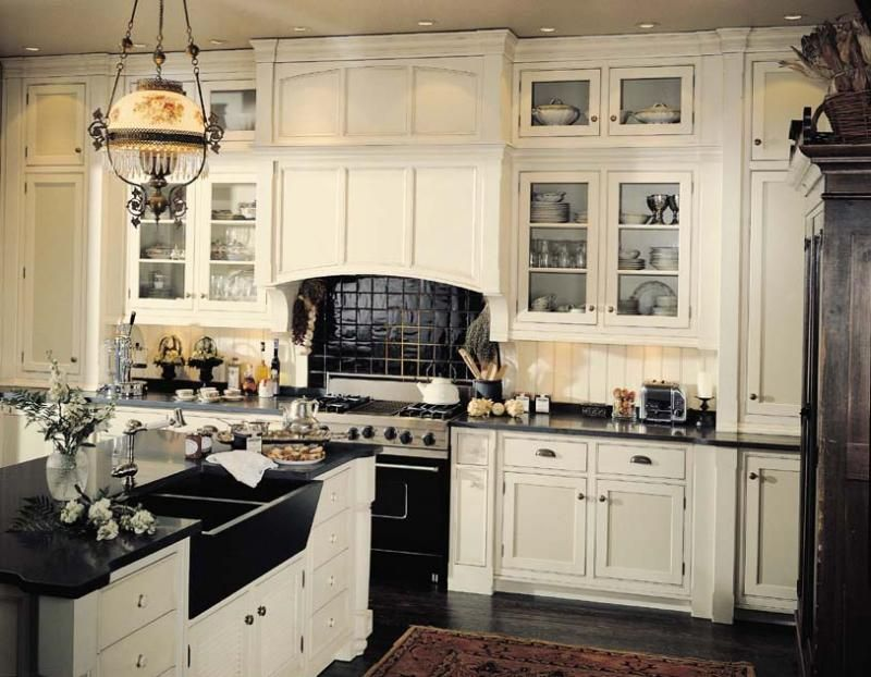 Black And White Kitchenandre Julien With Double Black Farm Custom Black And White Kitchens Designs Design Ideas