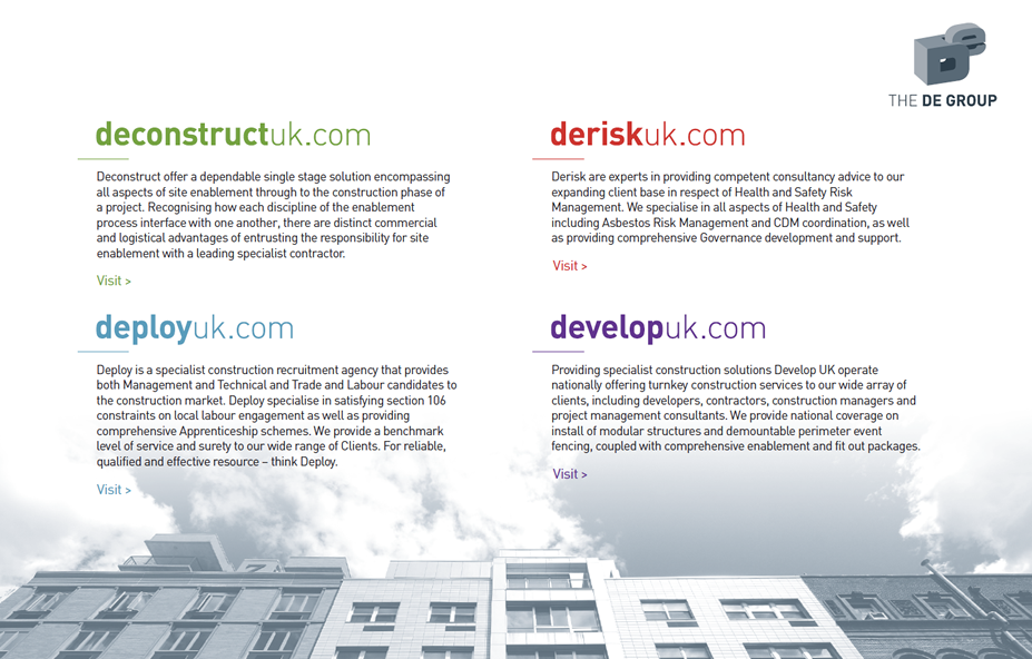 Deconstruct UK Ltd | Group Companies | Site Enablement | demolition | Asbestos Removal Services - deconstructuk