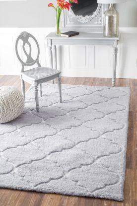 Soft Fluffy Gray Keno R235 Grey Rug Rugsusa