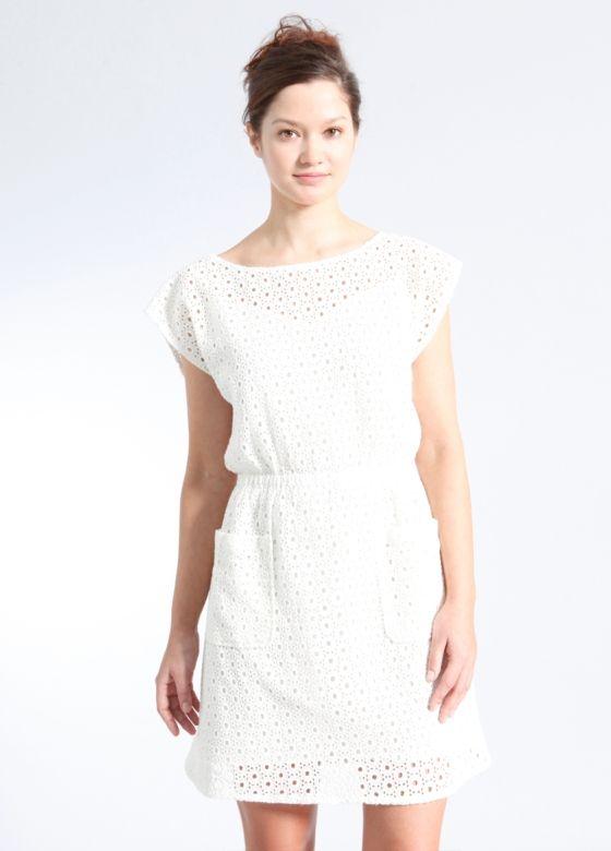Oasis Cotton Eyelet Dress