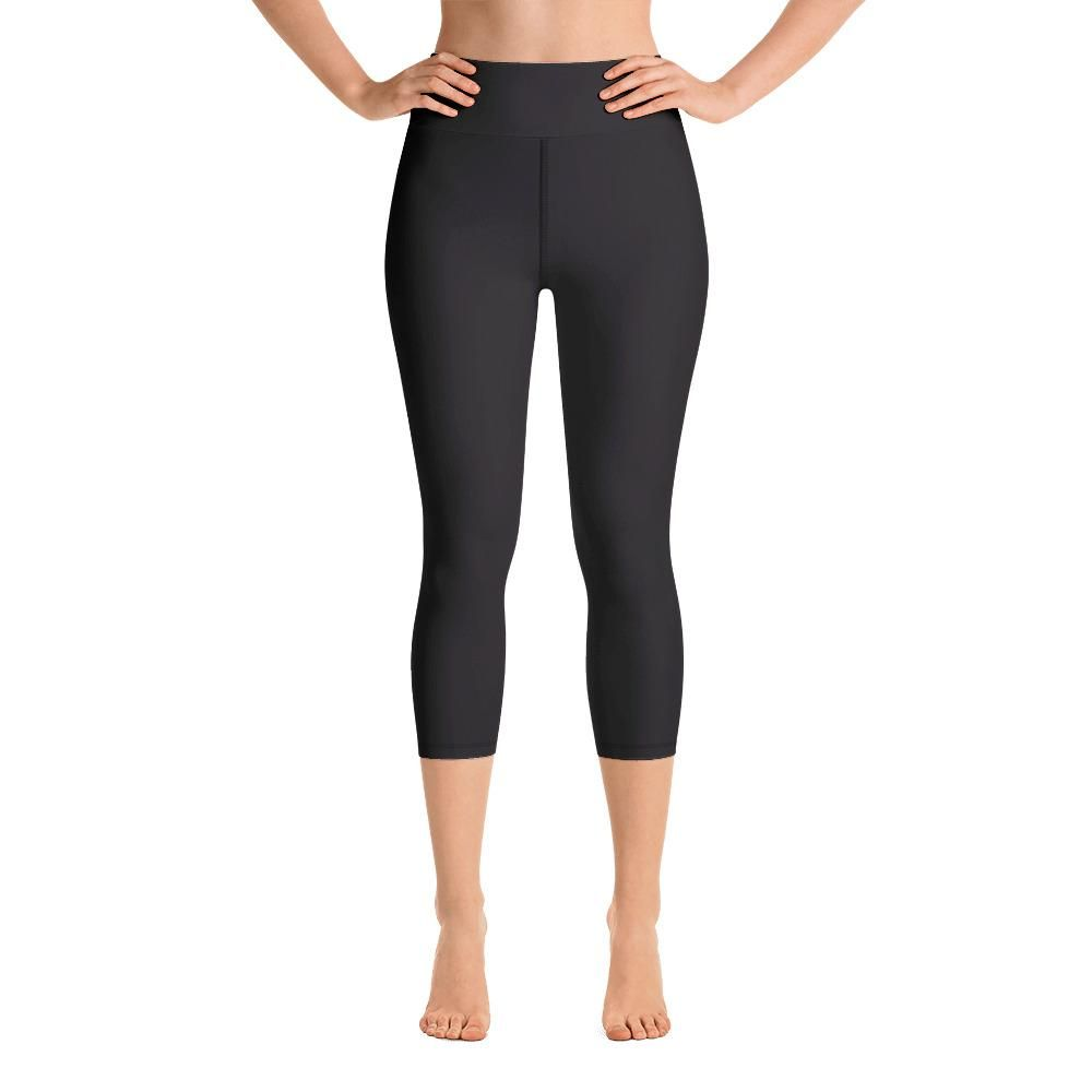 4ff9a6f98d97e0 Akai Black Women's Cotton Yoga Capri Pants Leggings With Pockets Plus –  heidikimurart