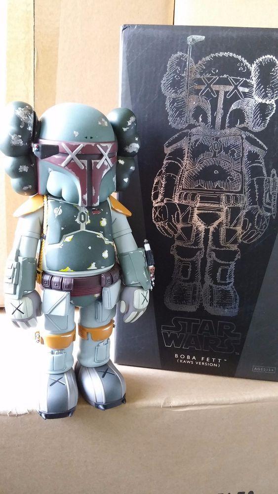 Medicom Toy Original Fake Kaws Boba Fett Star Wars Figure Kaws Star Wars Figures Star Wars Boba Fett Boba Fett