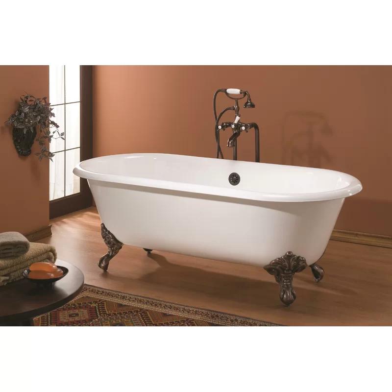 Regal Cast Iron 70 X 32 Freestanding Soaking Bathtub Soaking
