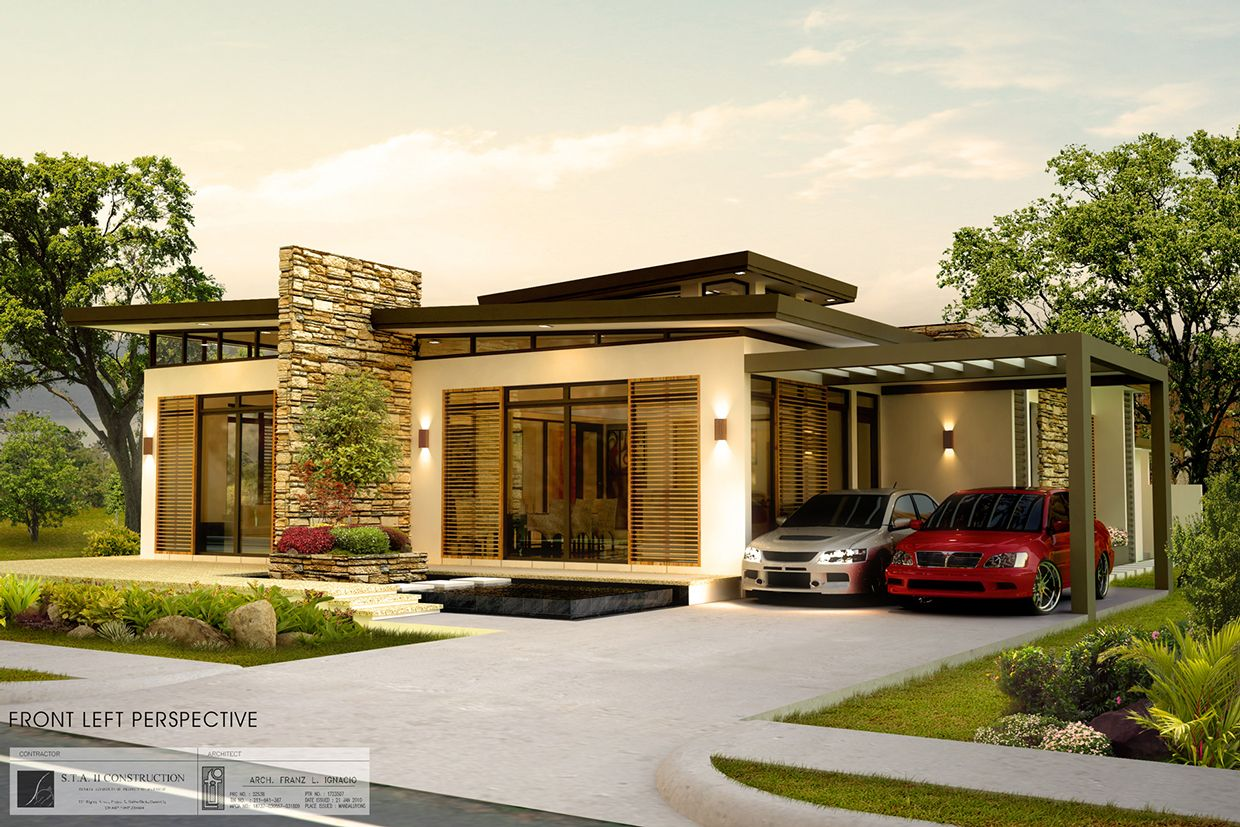 Contemporary Home Design in One Storey | Philippines house ...