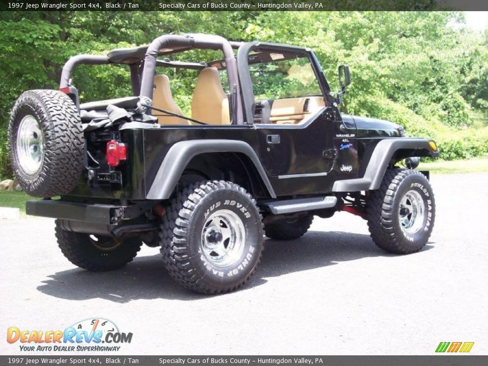 1997 Jeep Wrangler Sport 4x4 Black Tan Photo 30 1997 Jeep
