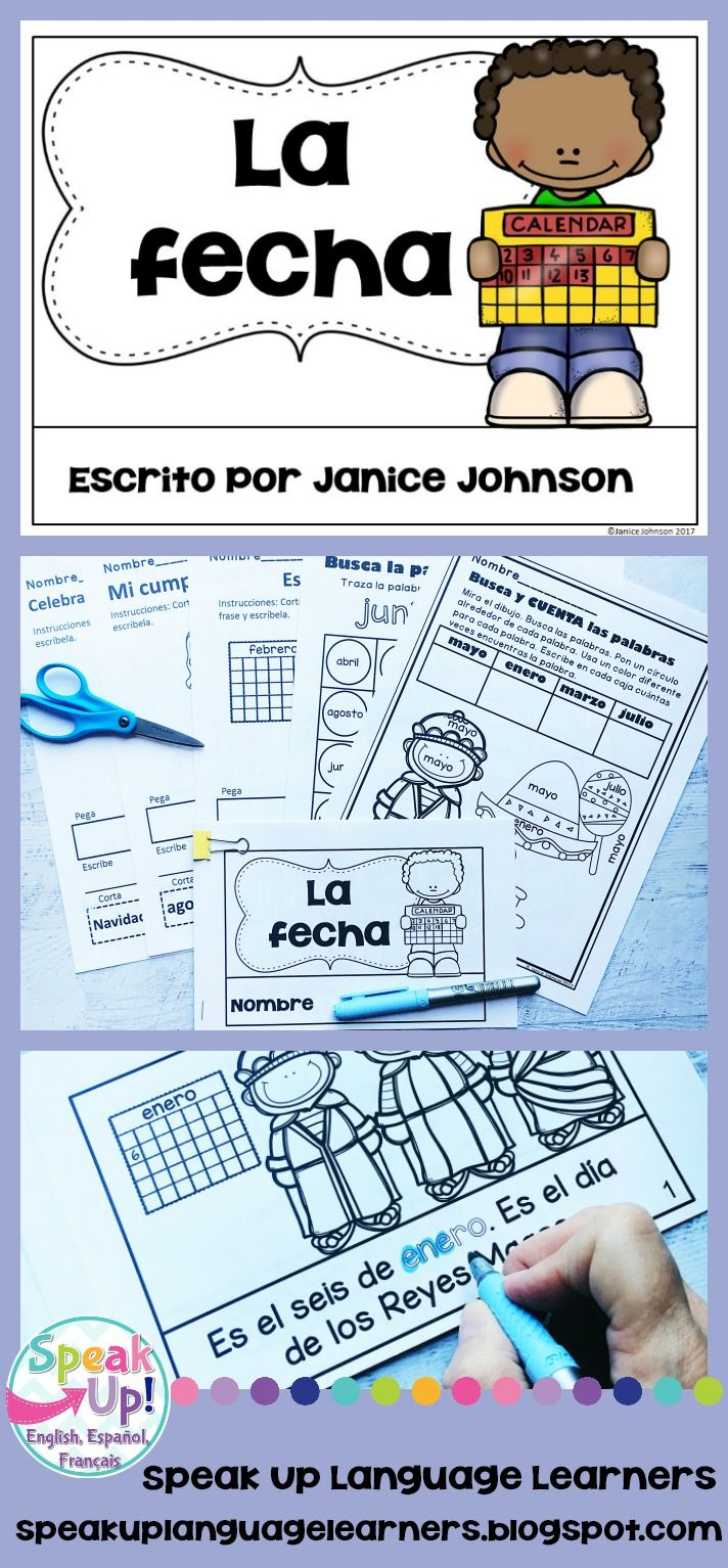 La fecha {Giving the Date & Spanish celebrations} & Vocabulary Pack ...