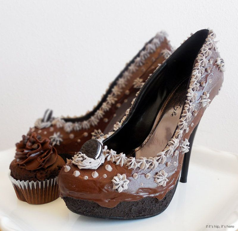 b9f0d8f75e ... Shoe Bakery decorates shoes so that they look like. High Heels For  Chocolate Lovers