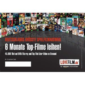 LOVEFiLM – 6 Monate Flatrate 1 Paket (für LOVEFiLM-Neukunden) für 18,99 €