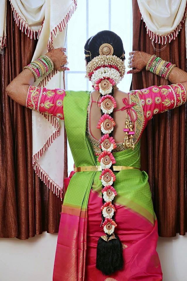 30 Poo Jadai Alangaram Designs For Wedding And Seemantham South Indian Bride Wedlockindia Com Indian Wedding Hairstyles Bridal Hairstyle Indian Wedding South Indian Wedding Hairstyles