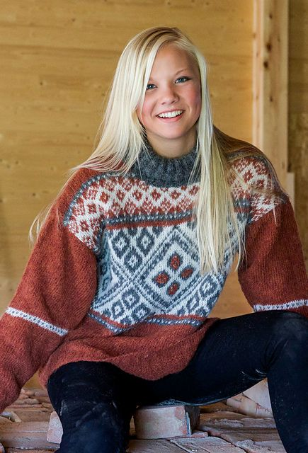 høstløv genser
