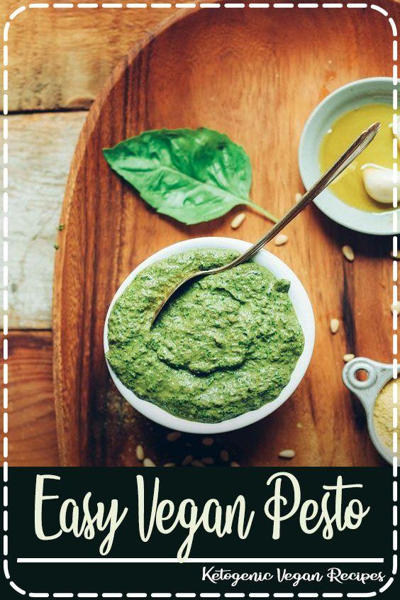 Easy Vegan Pesto 5 minutes EASY Vegan Pesto in 5 minutes Nooil optional big flavor SO easy