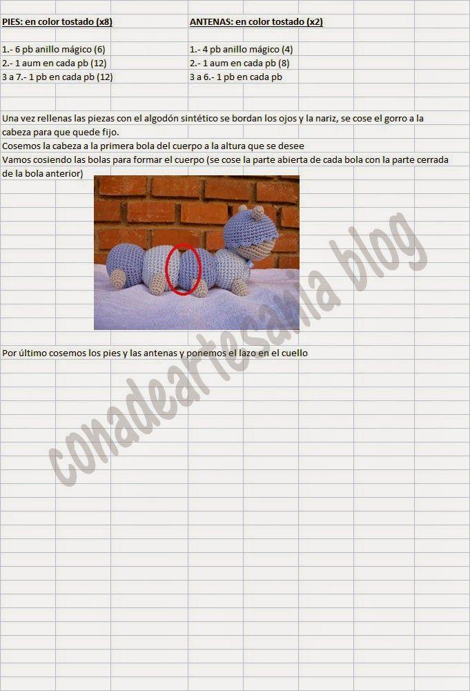 con A de artesanía: Patrón ciempiés | accesorios para bebes al ...