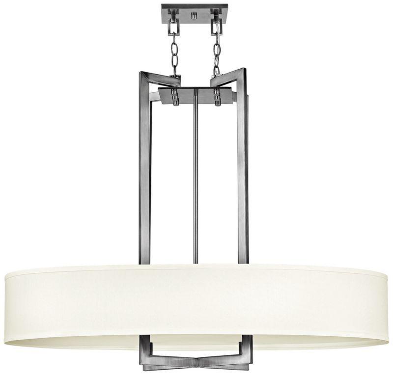 Hinkley Hampton Nickel Drum Shade Pendant Eum7485 Euro Style Lighting