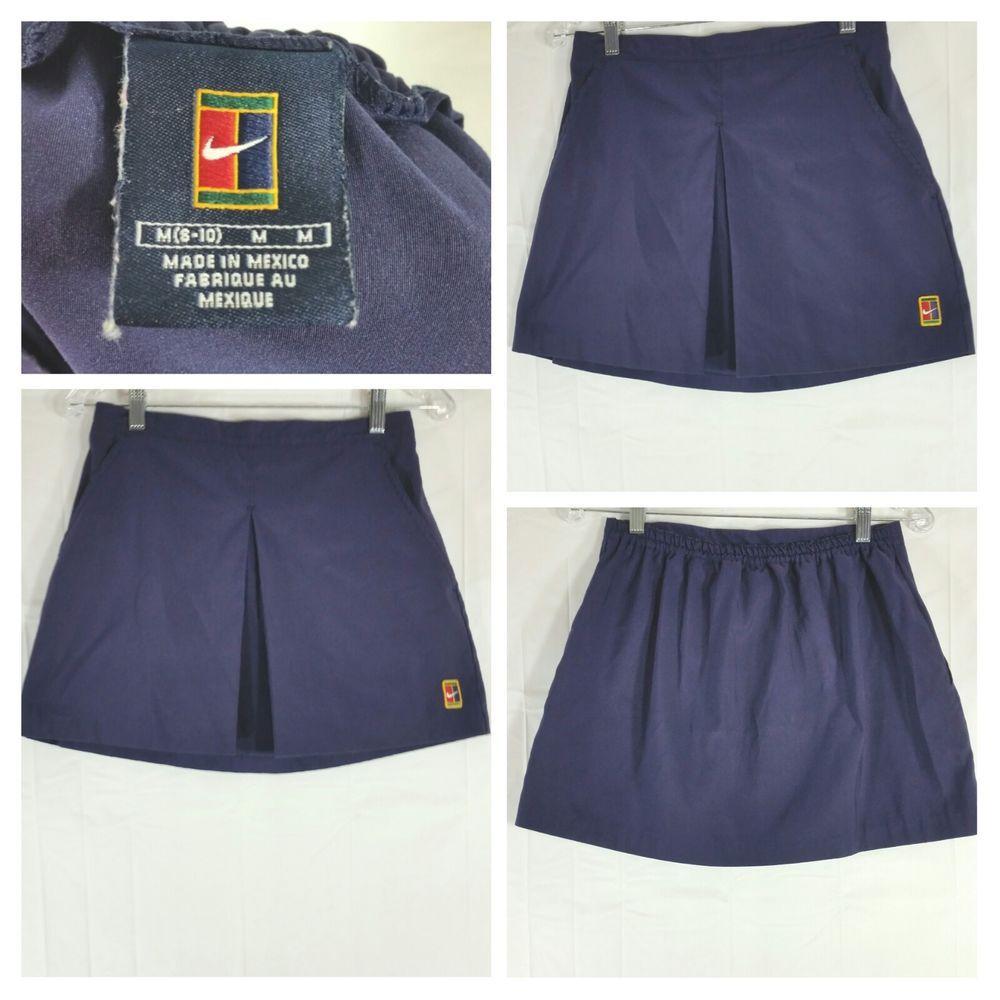 Nike Supreme Court Tennis Skirt Vintage Navy Blue Size 8 10 Women Nike Skirtsskortsdresses Tennis Skirt Vintage Skirt Gym Shorts Womens