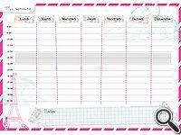 planning menu semaine vierge rose tour eiffel planner organization bullet journal. Black Bedroom Furniture Sets. Home Design Ideas