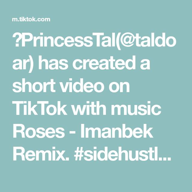 Princesstal Taldoar Has Created A Short Video On Tiktok With Music Roses Imanbek Remix Sidehustle Bodywaxing Esthetician Wax F Fortnite Remix Music