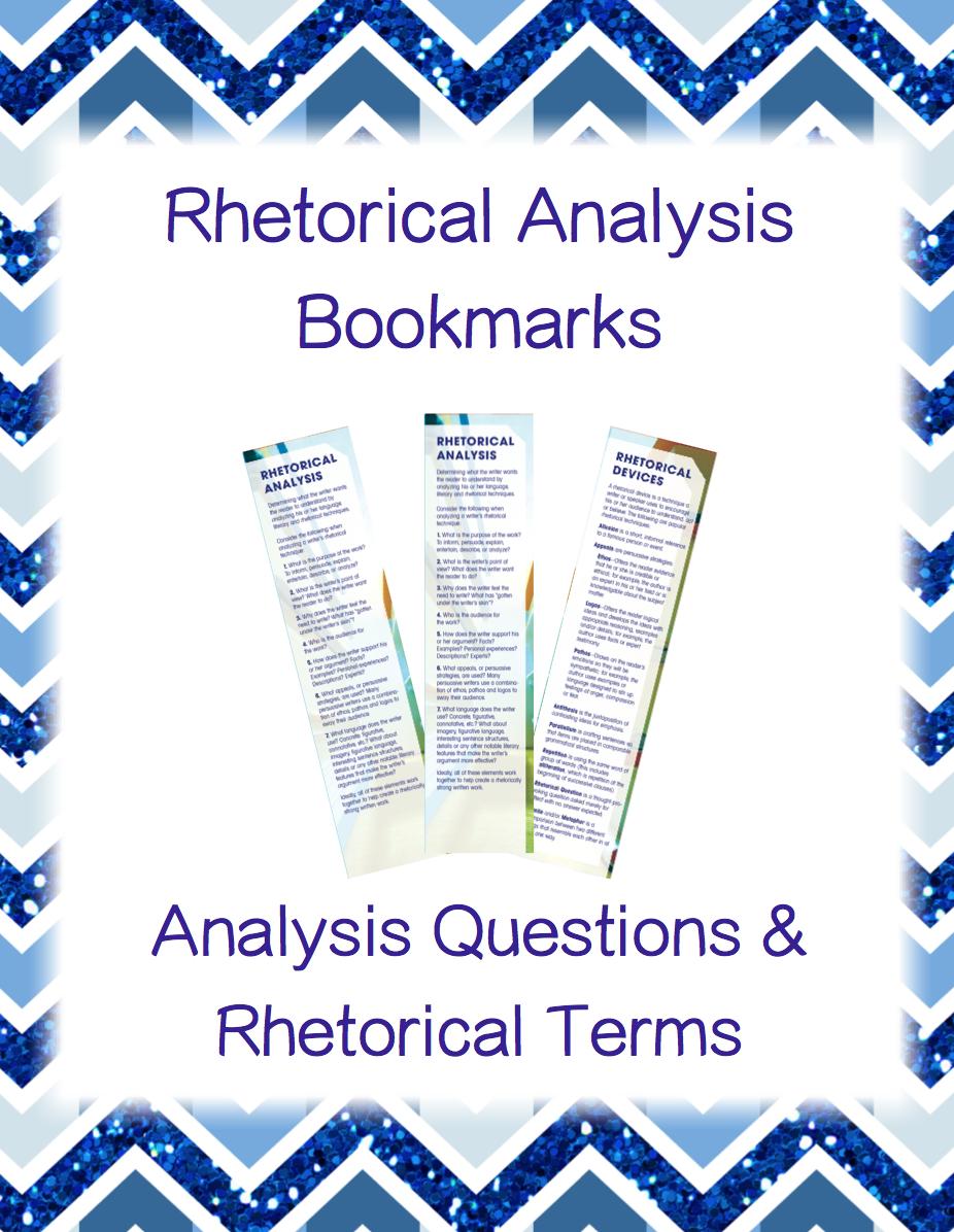 006 Rhetorical Analysis Bookmarks Teaching schools, Teaching