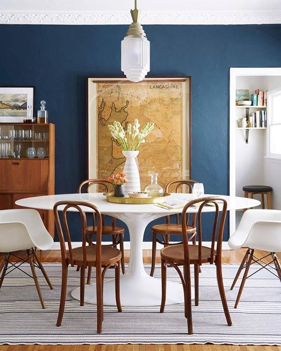 This Wall Color With Cherry Wood Furniture Stiffkey Blue Dining