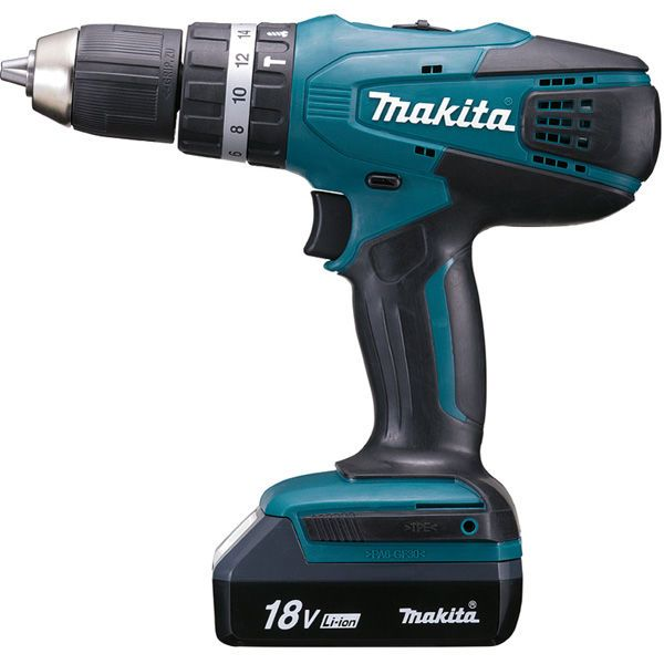 makita perceuse visseuse percussion 2x18v 1 3ah avec 74. Black Bedroom Furniture Sets. Home Design Ideas