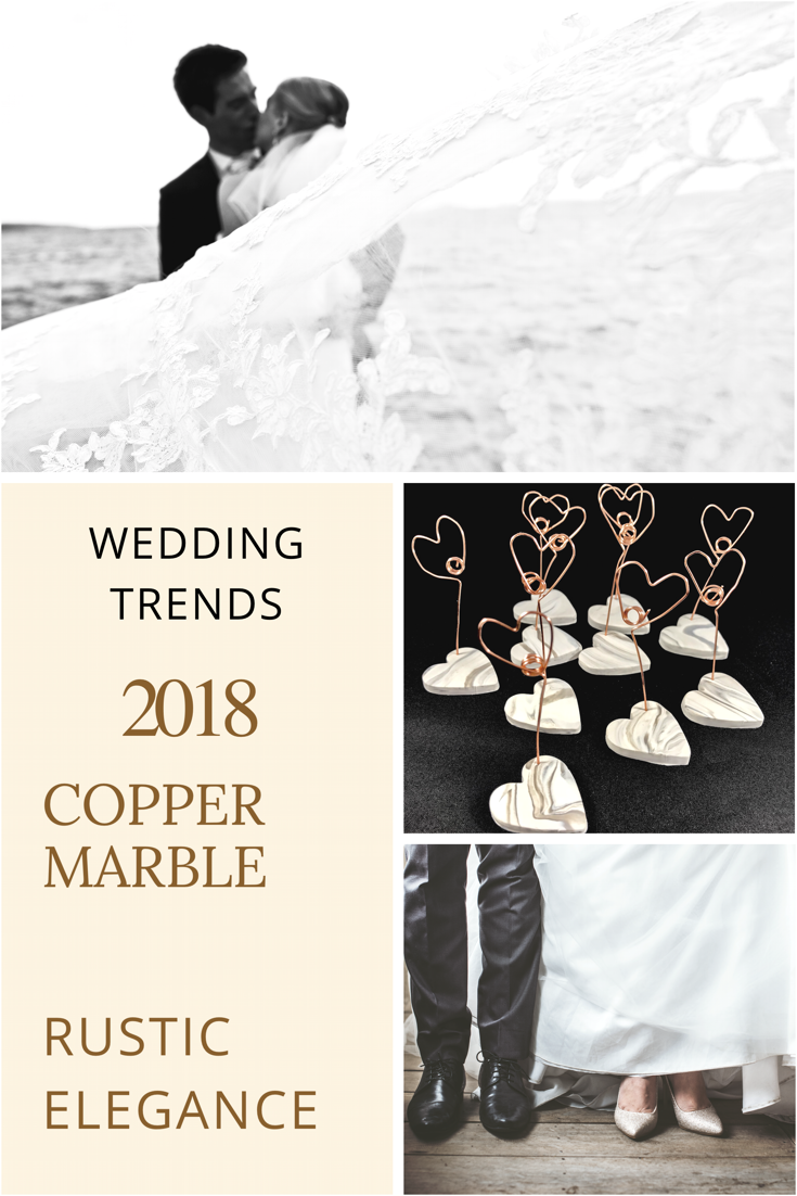 Copper and marble wedding - favors for guests - 2018 wedding trends ...