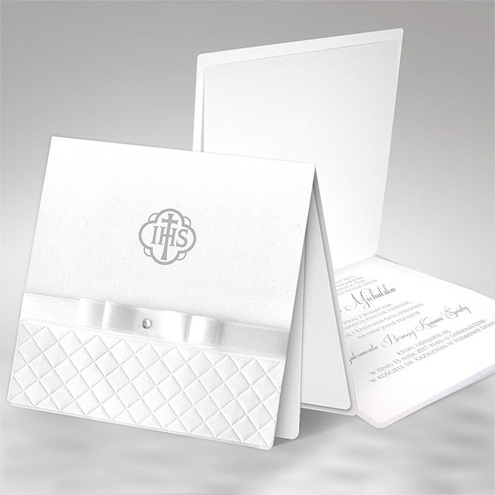 Nowosc Zaproszenie Komunijne 5920342084 Oficjalne Archiwum Allegro Card Craft Baptism Invitations Invitation Cards